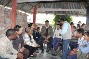 Social workers providing community education in Sunsari District in the eastern development region of Nepal